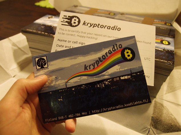Kryptoradio QSL cards